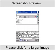 LingvoSoft Talking Dictionary English <-> Korean for Pocket PC Screenshot